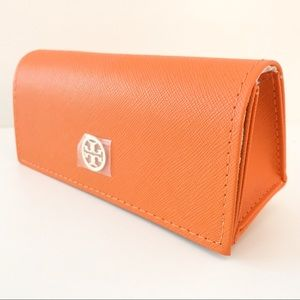🏷Tory Burch Orange Leather Optical Case
